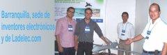 Ladelec.com reunido con otros inventores electrónicos innovadores en Barranquilla